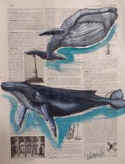 """Baleines au Phare du Cordouan"" Labarussias"