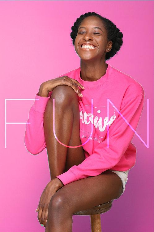 PINK Creative Crew Neck Sweaters