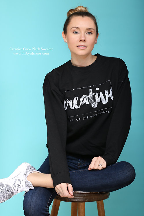Creative Crew Neck Sweaters