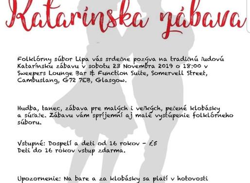 Katarinská zábava GLASGOW - Soubory Lípa a Studnička