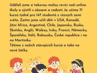 Online kurzy České školy ve Skotsku mají velký úspěch po celém světe