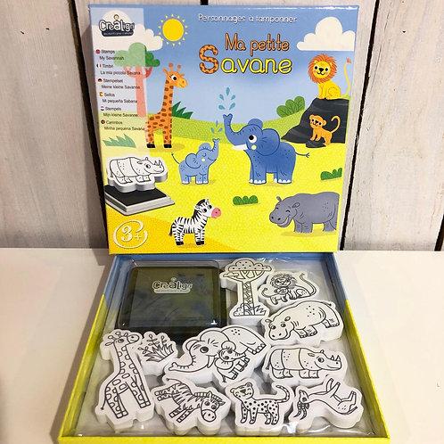Kit créatif Tampons pour enfants Crealign' savane
