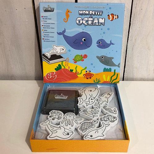 Kit créatif Tampons pour enfants Crealign' océan
