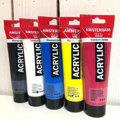 Peinture acrylique couleurs primaires
