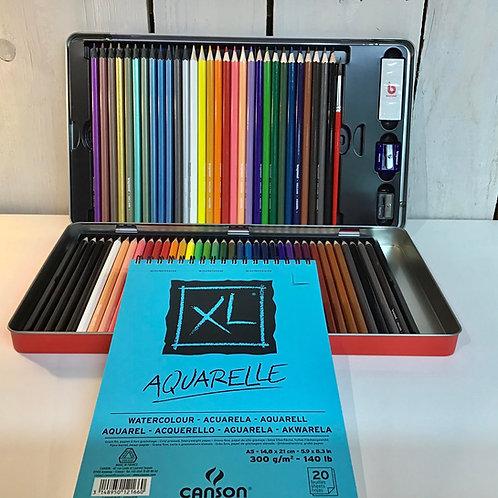 Kit crayons de couleurs +bloc