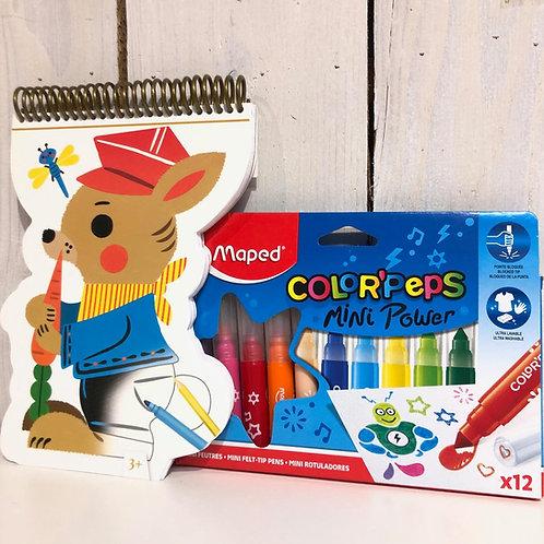 Kit de coloriage + feutres enfants