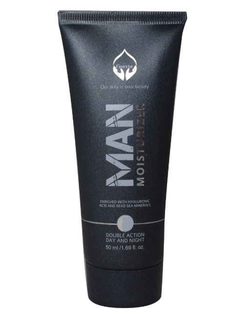 DEAD SEA MOISTURIZER – DOUBLE ACTION FOR MAN - ENRICHED WITH HYALURONIC ACID