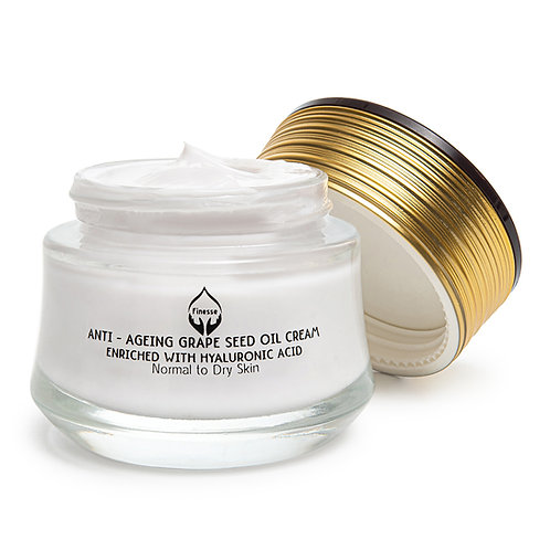 DEAD SEA ANTI - AGEING GRAPE SEED OIL CREAM - ENRICHED WITH HYALURONIC ACID