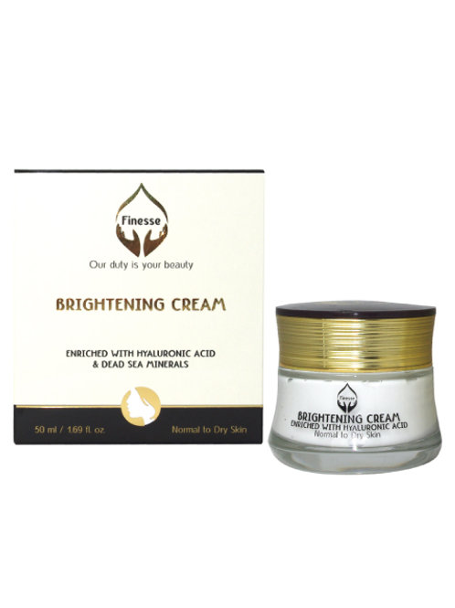 DEAD SEA BRIGHTENING CREAM - ENRICHED WITH HYALURONIC ACID