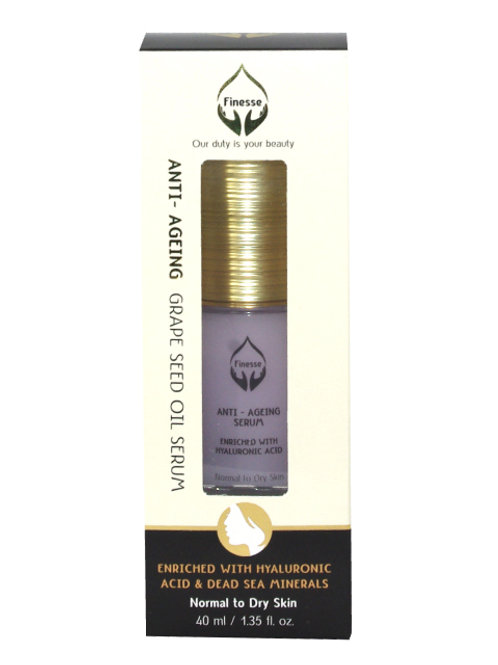 DEAD SEA ANTI – AGEING GRAPE SEED OIL SERUM – ENRICHED WITH HYALURONIC ACID