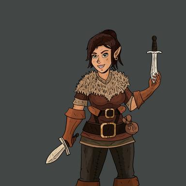 D&D Character - Dwarf Rogue