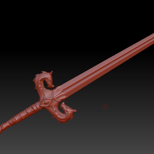 Dragon Sword - Sculpting Details