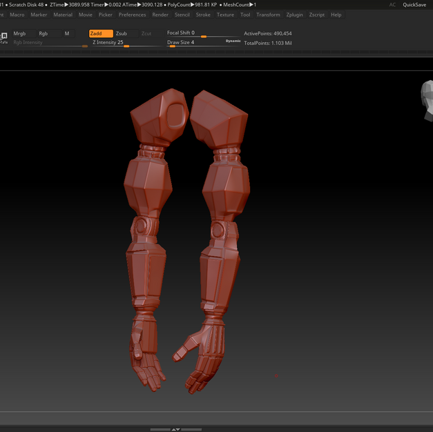 Cybernetic Arms - Detailed Sculpt