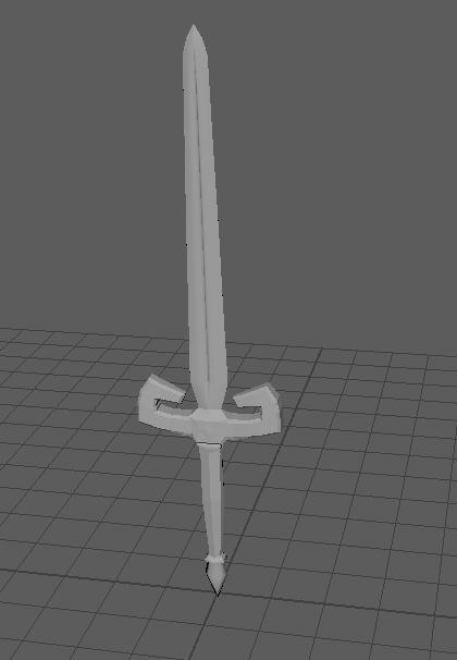 Dragon Sword Modelling - Low Poly Model