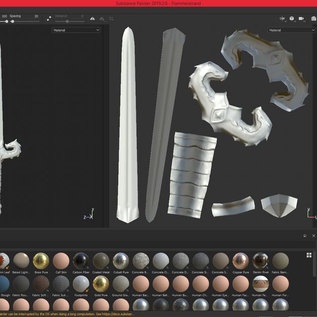 Dragon Sword - Texturing