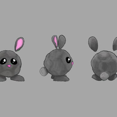 Dusty Bunny Enemy Concept