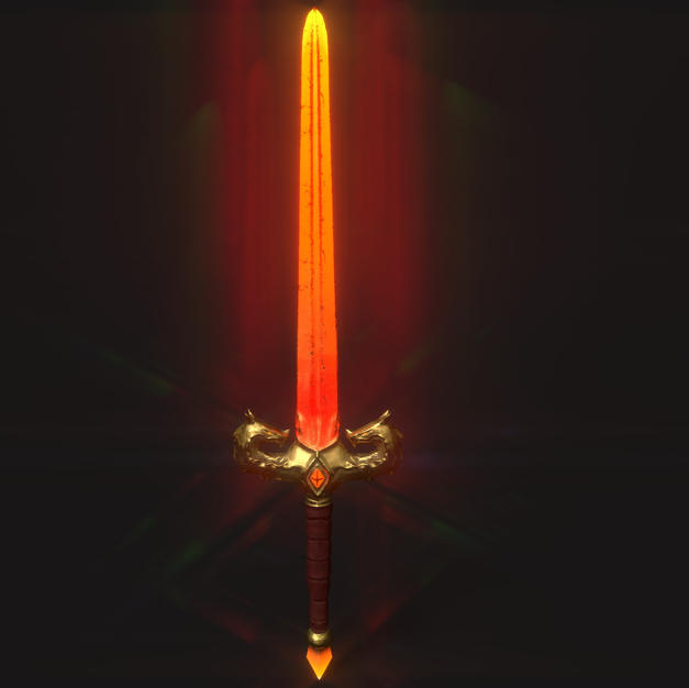Dragon Sword - Textures Applied