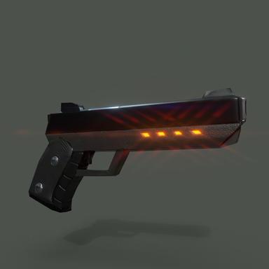 Cybernetic Pistol - Final Renders