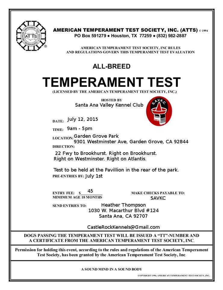 Temperament test online