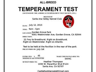 ATTS Temperament Testing