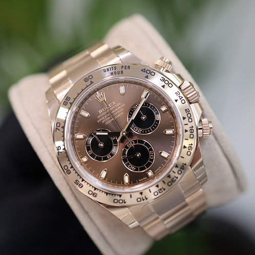 Unworn 2021 Everose Gold Chocolate Dial Rolex Daytona Complete With Box & Papers
