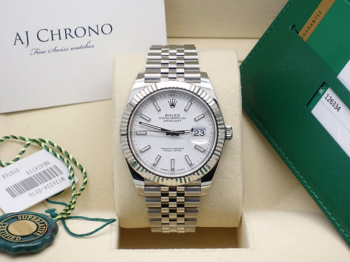 Gents 41mm Rolex Oyster Perpetual Datejust 126334 18ct White Gold Fluted Bezel