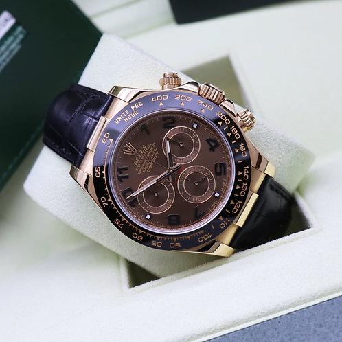 Gents 18ct Everose Gold Rolex Cosmograph Daytona Croc Strap 116515LN