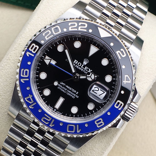 Gent Stainless Steel Rolex GMT-Master II 126710BLNR 'Batgirl' Box & Papers 2019