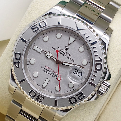 Mint Unpolished 16622 Stainless Steel & Platinum Rolex Yacht-master 2008