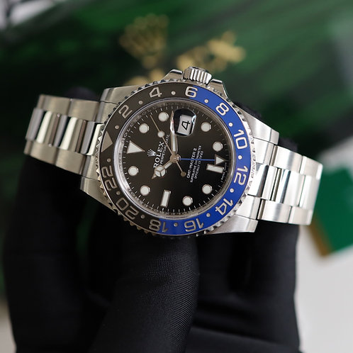 Discontinued Gents Stainless Steel Rolex GMT-Master II 116710BLNR Batman