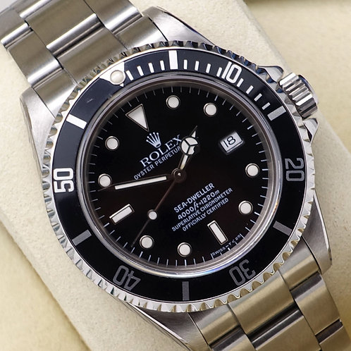 Gents Stainless Steel Rolex Sea-Dweller T Serial Sealed Since June 2019 Service
