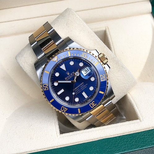 2016 Stainless Steel & 18ct Gold Rolex Oyster Perpetual Submariner Blue Kit
