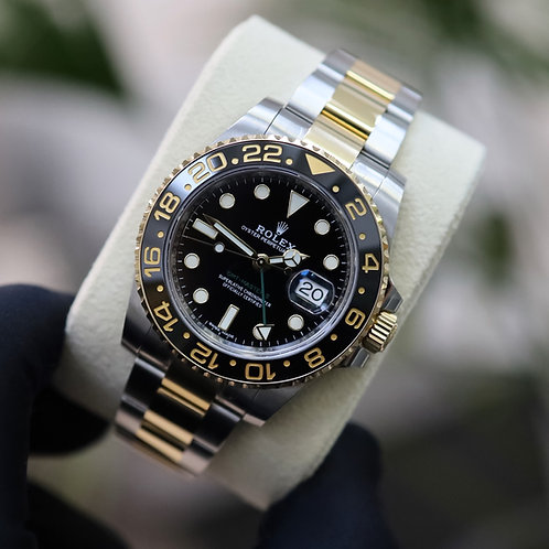 Unpolished Steel & 18ct Gold Rolex Oyster Perpetual GMT-Master II 116713LN