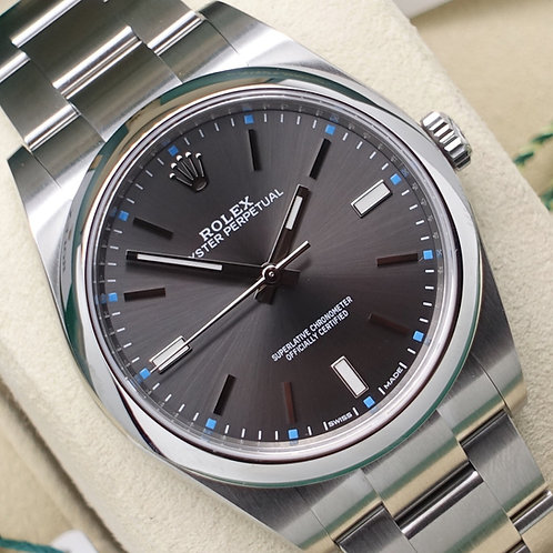 2019 Unworn Gents Stainless Steel Rolex Oyster Perpetual 39 With Rhodium Dial