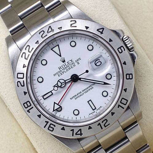 Gents Stainless Steel Rolex Oyster Perpetual Explorer II Polar White 16570
