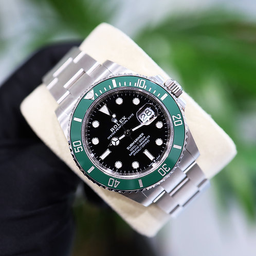Gents 2021 Stainless Steel Rolex Oyster Perpetual 'Kermit' Submariner