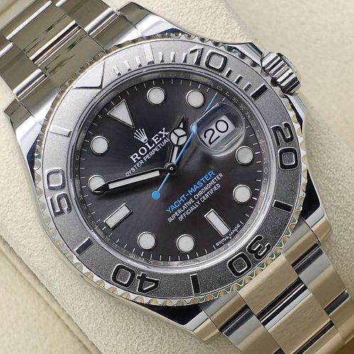 Unworn Gents Steel & Platinum Rolex Oyster Perpetual Yacht-Master Rhodium 126622