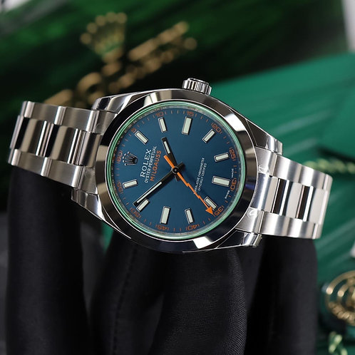 Factory Sealed Gents Stainless Steel Rolex Oyster Perpetual Milgauss Z Blue Dial