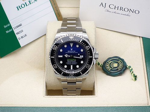 Gents Stainless Steel Rolex James Cameron Deepsea D-Blue Dial 2015 Box & Papers