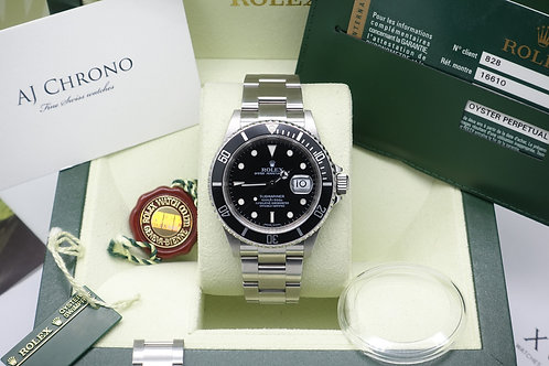 Immaculate Full Set Rolex Submariner 16610 Late Production Engraved Rehaut 2009