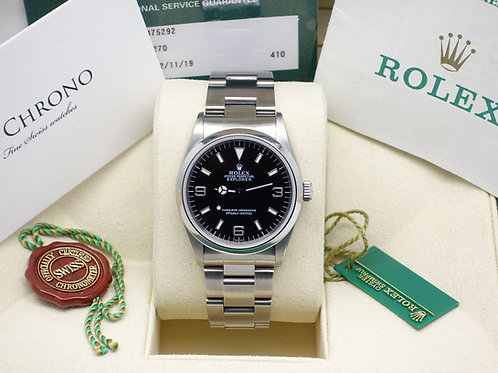 Gents Stainless Steel 36mm Rolex Oyster Perpetual Explorer 14270 With Papers