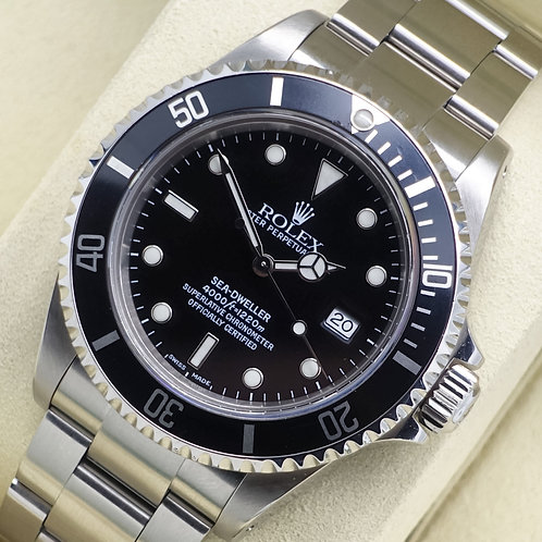 Gents Stainless Steel Rolex Oyster Perpetual Sea-Dweller 16600 Dated 2002
