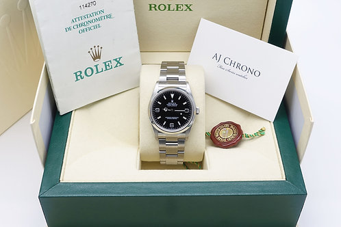 Gents Stainless Steel 36mm Rolex Oyster Perpetual Explorer 114270 With Papers