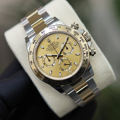 Gents Rolex Daytona 18ct Gold & Stainless Steel Champagne 2020 116503 UK