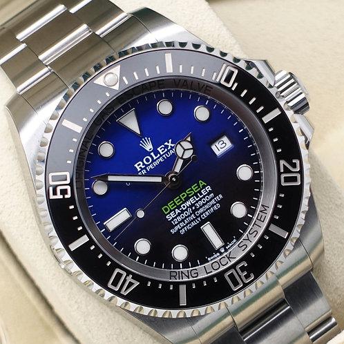Unworn 2019 Stainless Steel Rolex James Cameron Deepsea D-Blue Dial Box & Papers