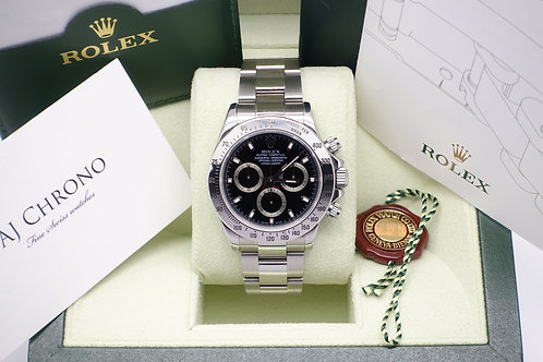 Stainless Steel Rolex Cosmograph Daytona Complete With Box & Papers 116520