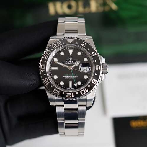 Gents Stainless Steel Rolex GMT-Master II 116710LN Complete With Box & Papers