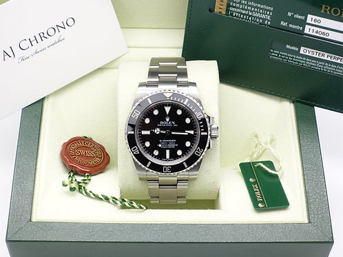 Gents Stainless Steel Rolex Oyster Perpetual Submariner Non Date 114060 B+P