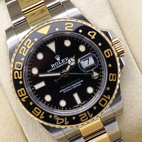 2018 Steel & 18ct Gold Rolex Oyster Perpetual GMT-Master II 116713LN