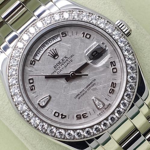 Platinum Rolex Day-Date Masterpiece Pearlmaster Factory Meteorite Diamond Dial